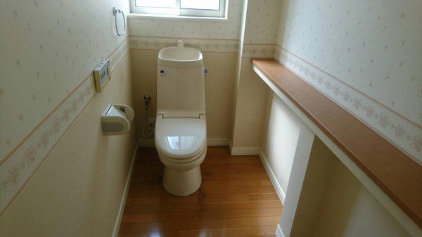 広々トイレです!
