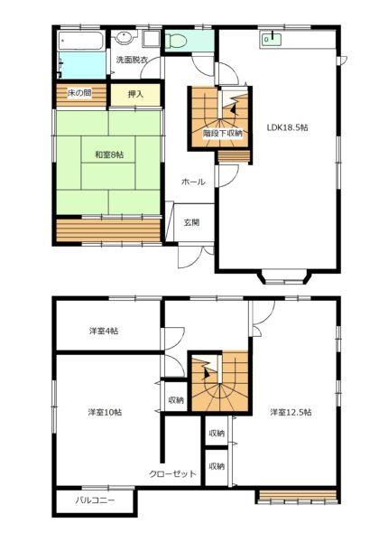 2階の4帖洋室は書斎、サンルーム、収納など広いのでどのようにもご利用できますね!