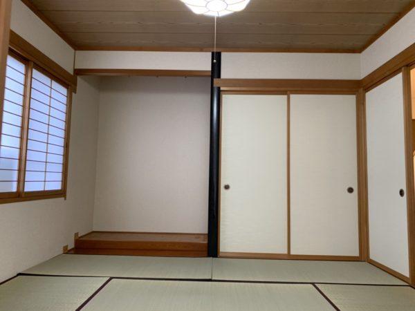 押入れ床の間付き。節句のお飾りにもいいスペースですね!