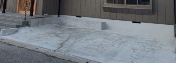 広々とした駐車場2台分コンクリート新設